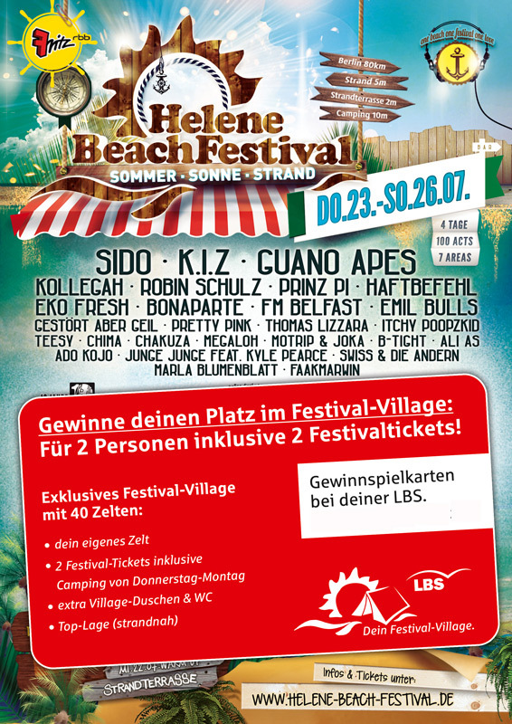 Helene Beach Festival Karten